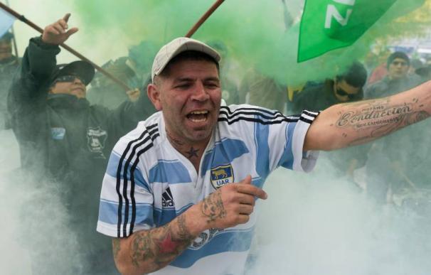 Manifestación en Buenos Aires contra la reforma laboral