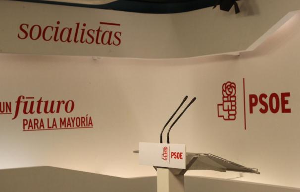 Sala de prensa del PSOE, donde no ha habido comparecencias.