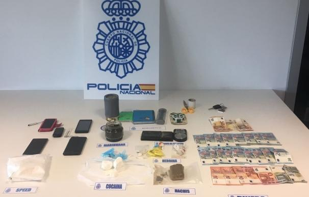 Desmantelada una organización dedicada al tráfico de estupefacientes en Gipuzkoa con cuatro detenciones