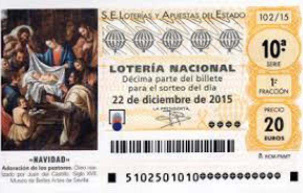Décimo de la Lotería de Navidad 2015