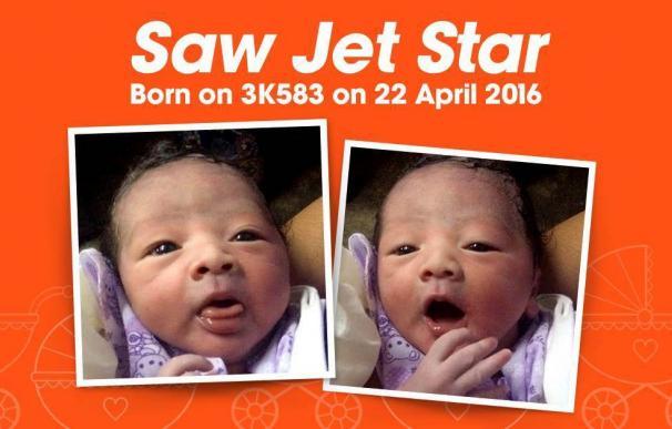 Un bebé nacido a bordo de un avión de pasajeros llevará el nombre de la aerolínea