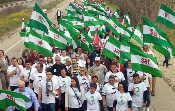El SAT prepara la marcha a pie a Madrid para pedir la libertad de Bódalo y que saldrá de Jódar (Jaén) el 4 de mayo