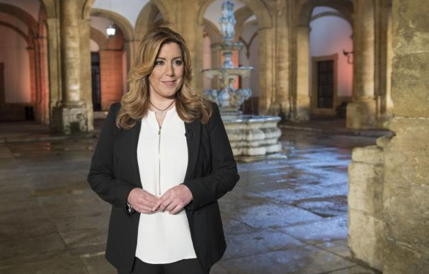 """Susana Díaz pide """"preservar la unidad de España"""" y combatir a quienes intentan dividirla o """"ensanchar la desigualdad"""""""