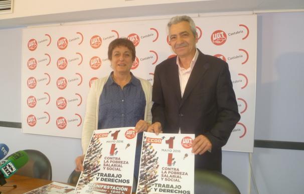 """UGT y CCOO se manifestarán este 1 de Mayo contra la """"pobreza salarial y social"""""""