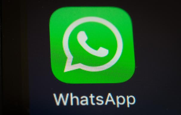 A screen shot of the popular WhatsApp smartphone a