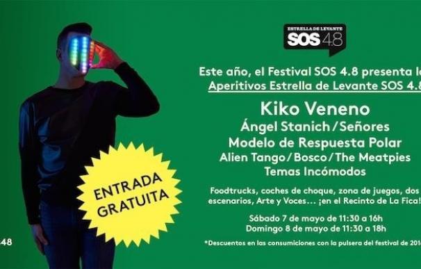 Kiko Veneno, Ángel Stánich o The Meatpies estarán en los 'Aperitivos' del SOS 4.8