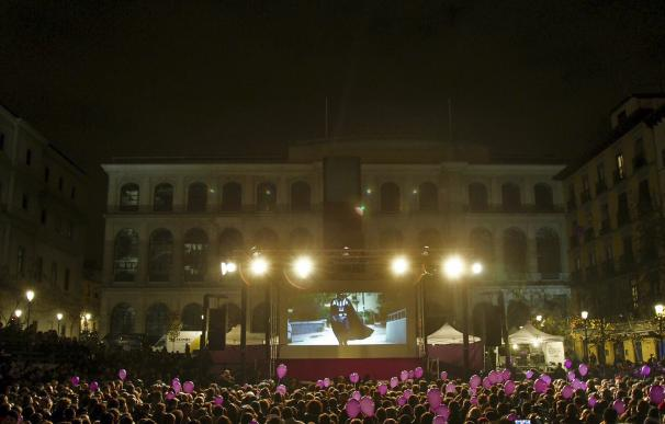La fiesta electoral de Podemos cerca del Museo Reina Sofía de Madrid (Foto: José González)