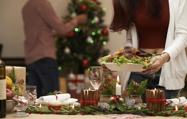 Cenas abundantes en las celebraciones navideñas