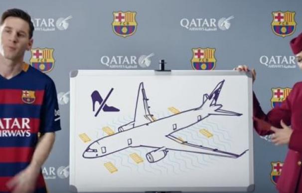 Messi en vídeo de Qatar Airways