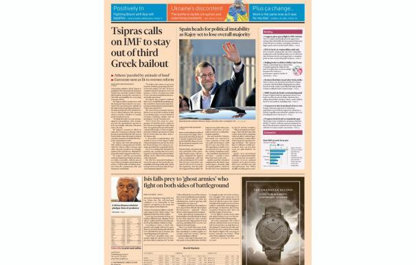 La inestabilidad tras las elecciones y la pérdida de la mayoría absoluta, en portada del Financial Times