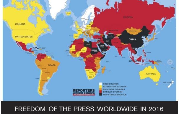 """Eritrea, Corea del Norte y Turkmenistán, """"el trío infernal"""" para la libertad de prensa, según RSF"""