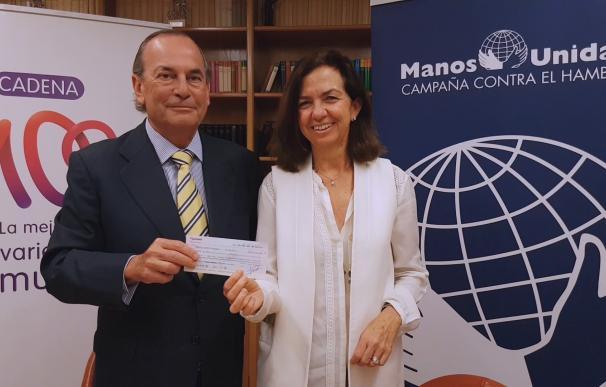 Manos Unidas destinará los 33.105 euros recaudados en el concierto de Cadena 100 a niños refugiados en Líbano