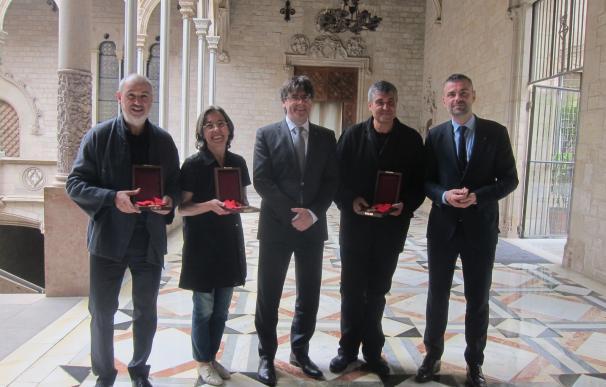 Puigdemont recibe a los arquitectos de RCR tras recoger el Premio Pritzker en Tokyo