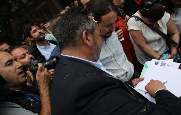 """Podemos, sobre el 'huevazo' a Iglesias: """"Las manifestaciones son más potentes si son tranquilas"""""""