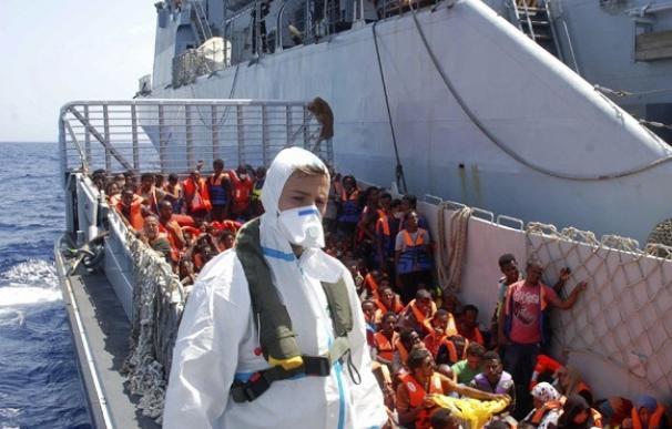 La Guardia costera italiana ha rescatado desde el viernes a 8.500 inmigrantes