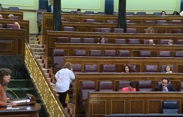 Menos de 50 diputados siguieron el trascendental debate de Presupuestos