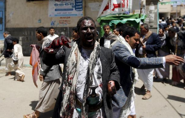 Atentado en dos mezquitas en Yemen, reivindicado por 'EI' en marzo.
