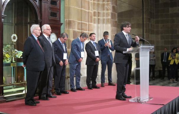 """Puigdemont destaca el comercio, Europa y el Mediterráneo como valores """"inherentes"""" de Cataluña"""