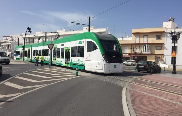 Las pruebas dinámicas del tranvía de la Bahía de Cádiz acumulan ya 1.000 kilómetros recorridos