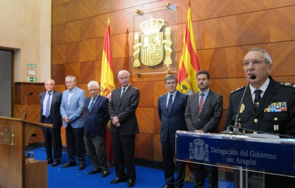Luchar contra la delincuencia organizada y el terrorismo, retos del nuevo jefe superior de Policía de Aragón