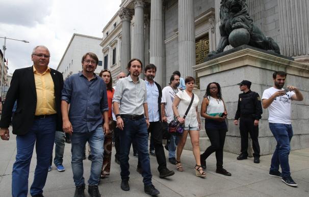 """Iglesias defiende un referéndum pactado en Cataluña frente a medidas unilaterales o la """"posición bunkerizada"""" del PP"""
