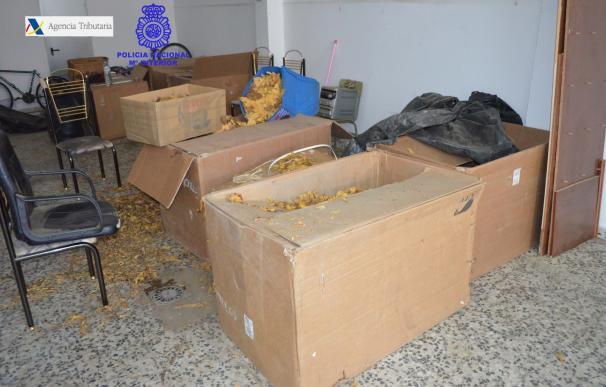 Dos detenidos en Badajoz por contrabando de tabaco tras incautarles más de 400 kilos de picadura para liar