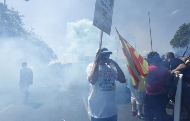 Las protestas de los taxistas en Madrid se salda con cuatro detenidos
