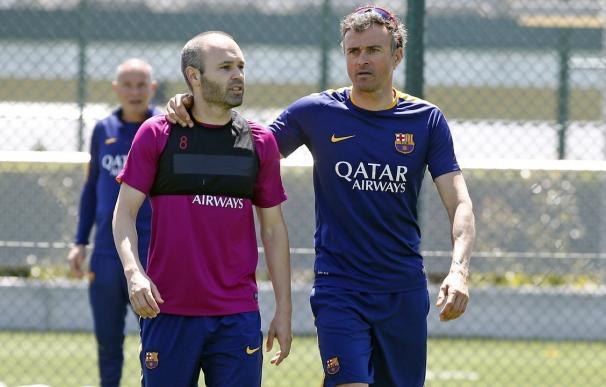 """Los jugadores del Barça dan las gracias a su ex """"míster"""" Luis Enrique y le desean suerte para el futuro"""
