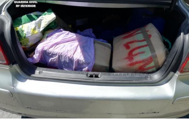 Un detenido con 81 kilos de hachís en un vehículo en la CA-34 en dirección San Roque