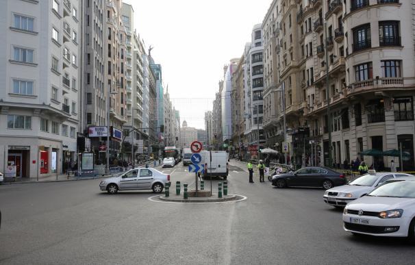 Las obras para la peatonalización parcial de Gran Vía de Madrid, que tendrá carriles bici, comenzarán en enero