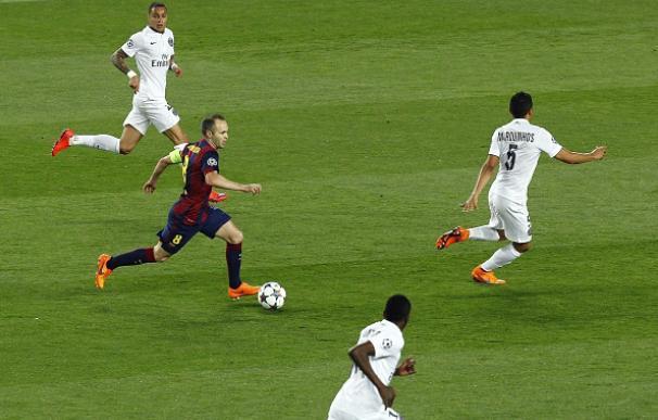 El jugadón de Iniesta ante el PSG
