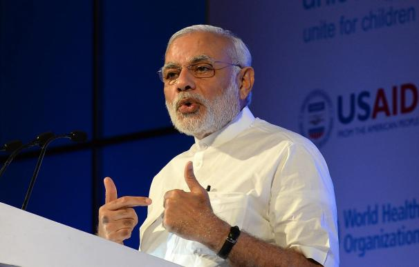 India Prime Minister Narendra Modi speaks during t