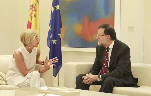 Díez, con Rajoy, en un encuentro en La Moncloa.