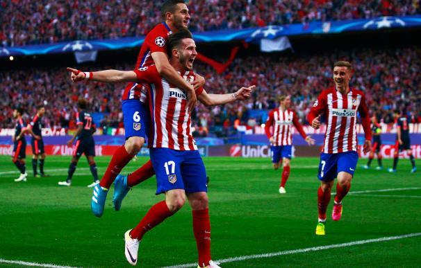 Saúl creó un gol en forma de obra de arte para adelantar al Atlético