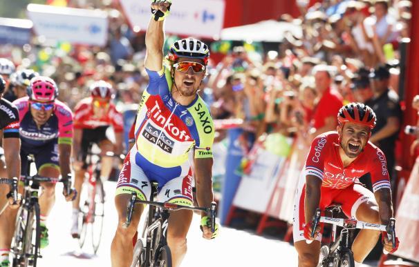 Sagan triunfa en la tercera etapa de la vuelta y se olvida de la maldición del Tour