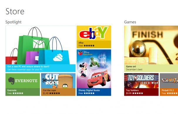 Windows también tendrá tienda de aplicaciones