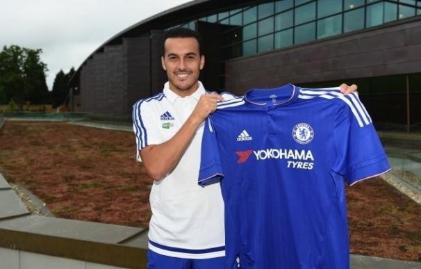 Pedro, con la camiseta del Chelsea