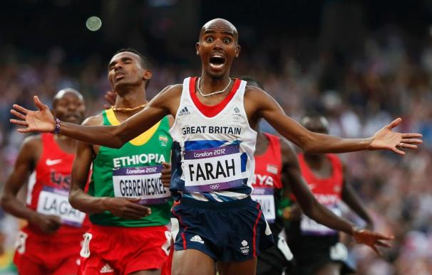Mo Farah ganó los 5.000 y los 10.000 en Londres 2012