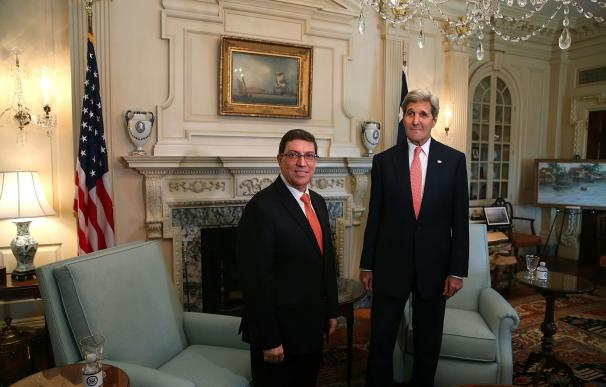 Kerry Meets With Cuban Foreign Minister As US Re-Establishes Relations With Cuba