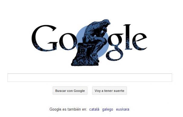 Doodle de Google dedicado al 172 aniversario de Rodin