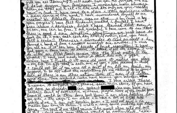 La carta que Mueller envió a sus padres antes de morir