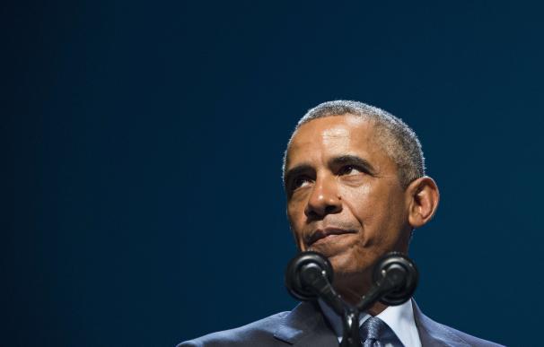 US President Barack Obama speaks during the Nation