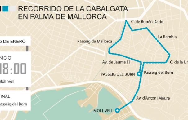 Gráfico Recorrido Cabalgata Palma de Mallorca 2018