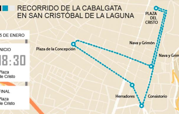 Recorrido Cabalgata San Cristóbal de la Laguna