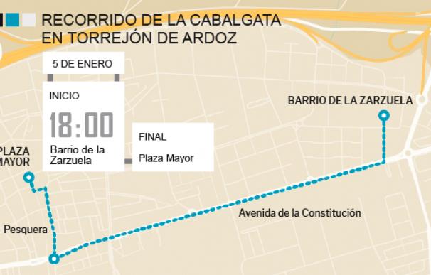 Recorrido Cabalgata de Torrejón de Ardoz 2018