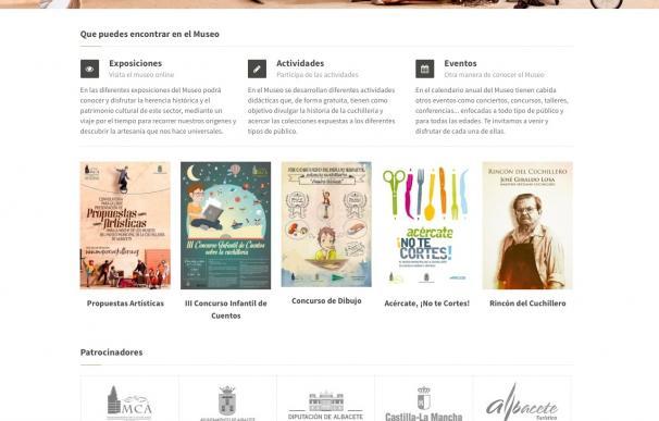 """El Museo de la Cuchillería de Albacete estrena una nueva web """"más dinámica y con una comunicación más fluida"""""""