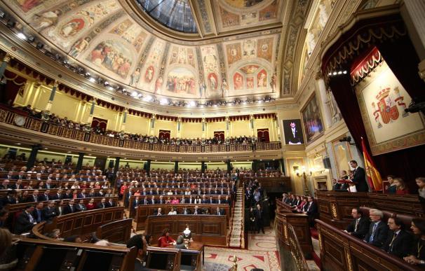Los Reyes presidirán el miércoles en el Congreso el homenaje a los parlamentarios de la Constitución de 1978