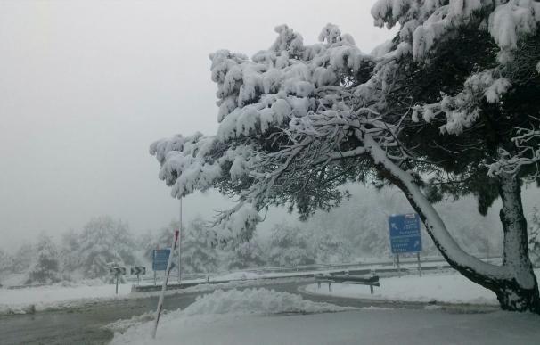 Finalizado el aviso amarillo por nieve en el interior del País Vasco