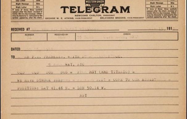 El telegrama del Titanic que puede que nunca nadie recibiese