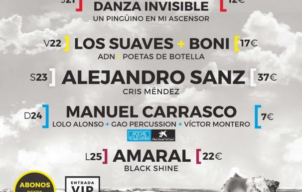 Alejandro Sanz, Amaral, Los Suaves y Manuel Carrasco, protagonistas de Música en Grande
